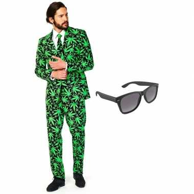 Verkleedkleding feest hennep tuxedo/business suit 54 (xxl) heren grat