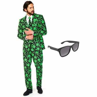 Verkleedkleding feest hennep tuxedo/business suit 56 (xxxl) heren gra