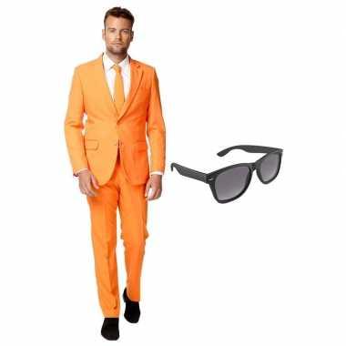 Verkleedkleding feest oranje tuxedo/business suit 56 (xxxl) heren gra