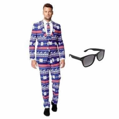 Verkleedkleding feest rendier print tuxedo/business suit 48 (m) heren
