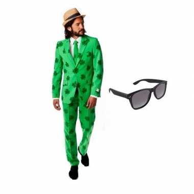 Verkleedkleding feest sint patricks day tuxedo/business suit 52 (xl)