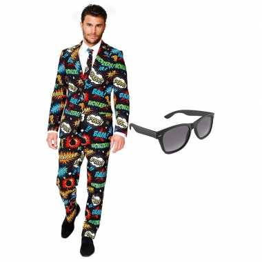 Verkleedkleding feest stripfiguur tuxedo/business suit 56 (xxxl) here