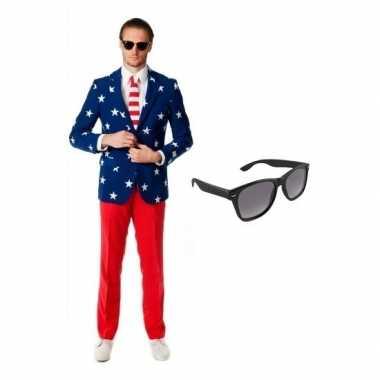 Verkleedkleding feest tuxedo/business suit country colors 50 (l) here
