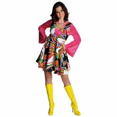 Verkleedkleding  Flower power jurken dames tip