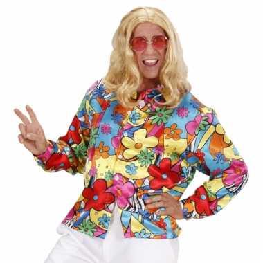 Verkleedkleding  Flower Power shirt gekleurd tip
