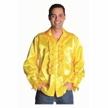 Verkleedkleding  Geel glimmende blouse deluxe tip