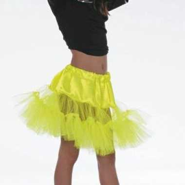 Verkleedkleding  Geel onderrokje meisjes tip