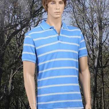 Verkleedkleding  Gestreepts blauw poloshirts tip