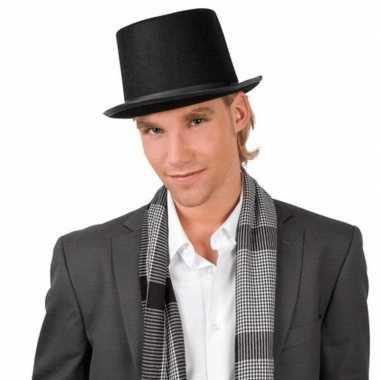 Verkleedkleding goochelaarshoed zwart volwassenen tip