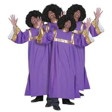 Verkleedkleding  Gospel koor jurken paars tip