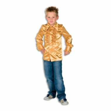 Verkleedkleding  Gouden disco blouse jongens tip