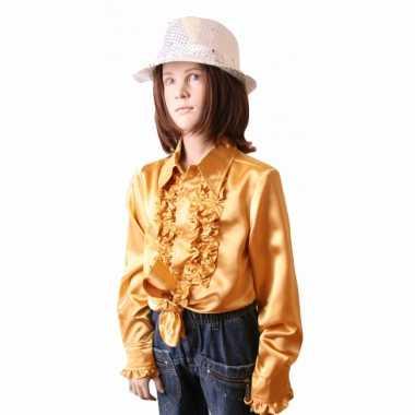 Verkleedkleding  Gouden disco blouse meisjes tip