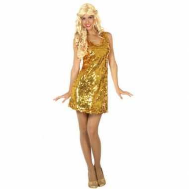Verkleedkleding  Gouden glitter jurkjes dames tip