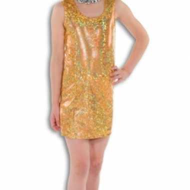 Verkleedkleding  Gouden glitterende jurk meisjes tip