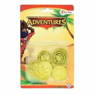 Verkleedkleding gouden piraten speelgoed munten tip