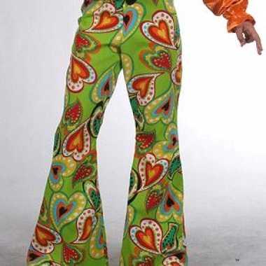 Verkleedkleding groene hippie broek kind tip