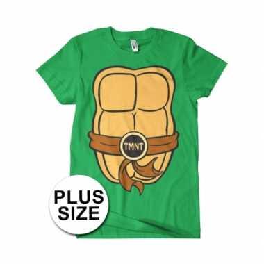 Verkleedkleding grote maat feest ninja turtles t shirt volwassenen ti