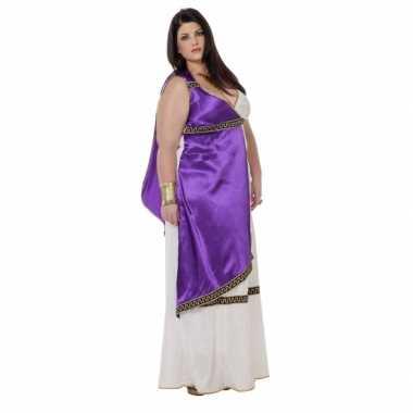 Verkleedkleding  Grote maat Romeinse jurk Livia tip