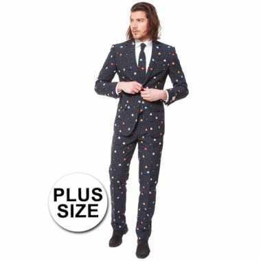 Verkleedkleding  Grote maten business suit Pac-Man tip
