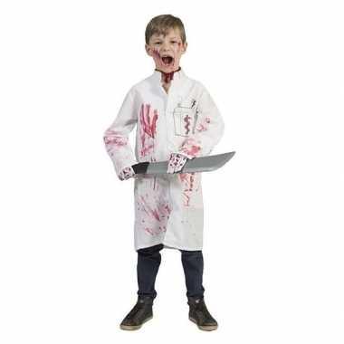 Verkleedkleding halloween bloederige doktersjas jongens tip