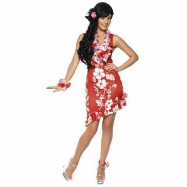 Verkleedkleding  Hawaii verkleed jurkjes rood tip