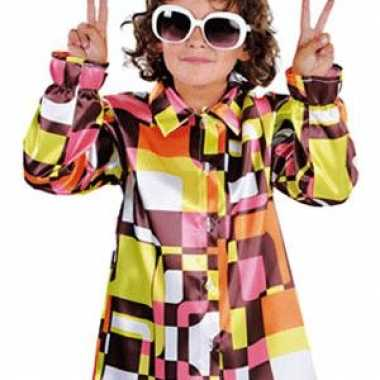 Verkleedkleding  Hippie kinder blouse gekleurd tip