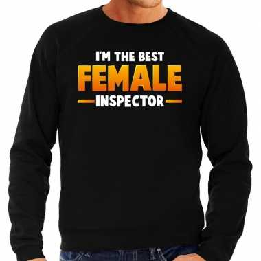 Verkleedkleding im the best female inspector sweater zwart heren tip