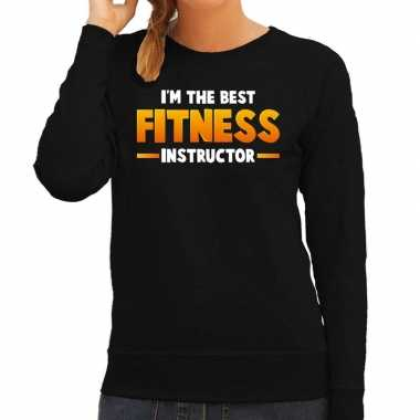 Verkleedkleding im the best fitness instructor sweater zwart dames tip