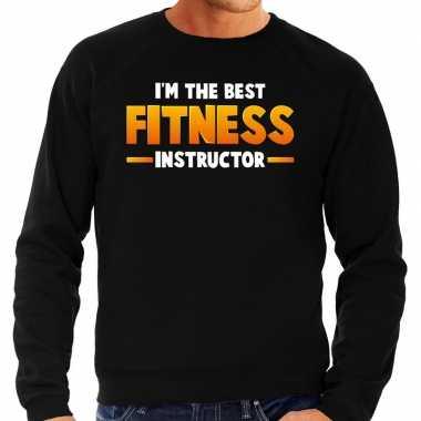 Verkleedkleding im the best fitness instructor sweater zwart heren tip