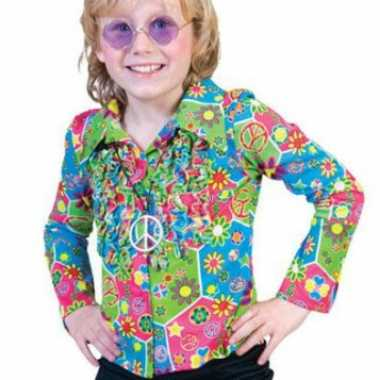 Verkleedkleding  Jaren 60 blouse kind tip