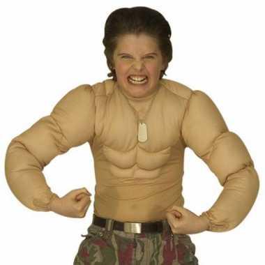 Verkleedkleding  Jongens shirt spierballen tip