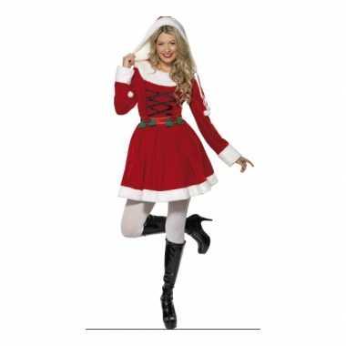 Verkleedkleding  Kerstjurken lange mouwen dames tip