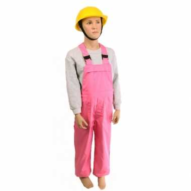 Verkleedkleding  Kind tuinbroek roze tip