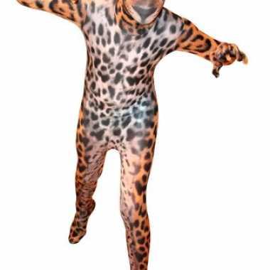 Verkleedkleding  Kinder morphsuit luipaarden opdruk tip
