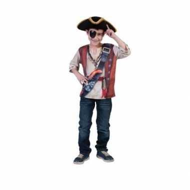 Verkleedkleding  Kinder piraten shirt 3D tip