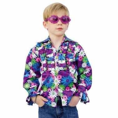 Verkleedkleding  Kinder seventies blouse bloemen tip