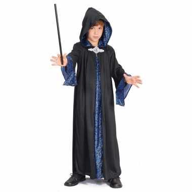 Verkleedkleding  Kinder tovenaar cape blauw/zwart tip