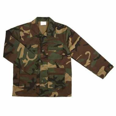 Verkleedkleding  Leger jas kind camouflage print tip