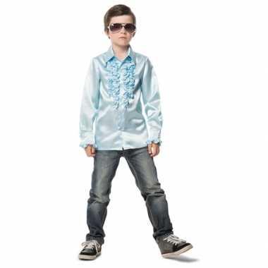 Verkleedkleding  Lichtblauwe disco blouse jongens tip