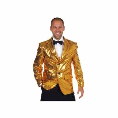 Verkleedkleding  Luxe blazer goud heren tip
