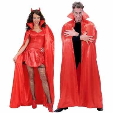 Verkleedkleding  Luxe cape rood satijn 158 tip