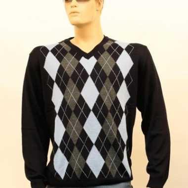Verkleedkleding  Luxe Heren Pullover blue tip