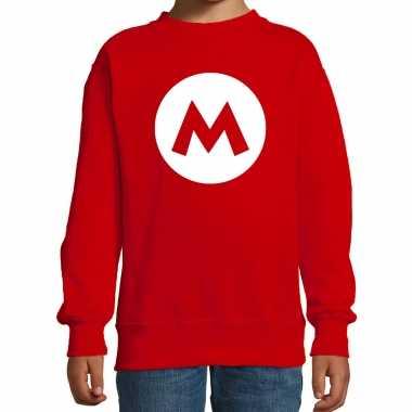Verkleedkleding mario loodgieter sweater rood kind tip