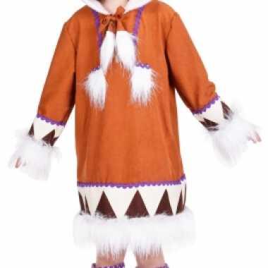 Verkleedkleding  Meisjes eskimo jurkje laarshoezen tip