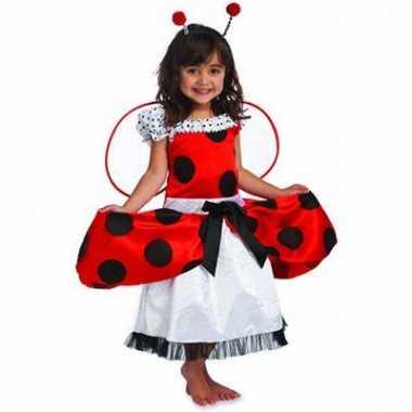 Verkleedkleding  Meisjes jurkje rood zwart tip