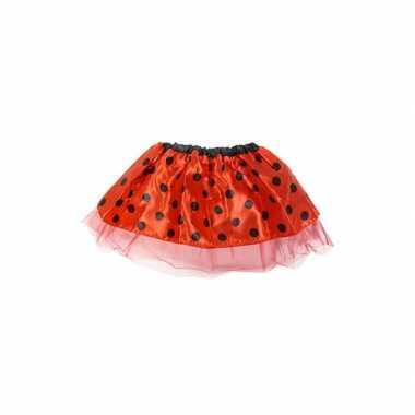 Verkleedkleding  Meisjes lieveheersbeestje tutu rokje rood tip
