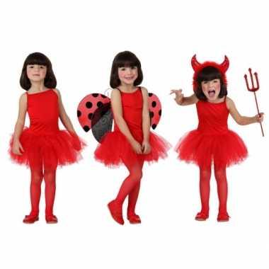 Verkleedkleding  Meisjes tutu jurkje rood tip