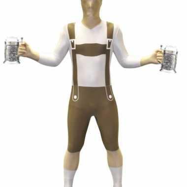 Verkleedkleding  Morphsuit lederhosen opdruk tip