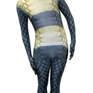 Verkleedkleding  Morphsuit slangen opdruk tip