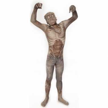 Verkleedkleding  Morphsuit zombie opdruk kind tip
